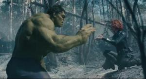 "Hulk and Black Widow preparing to play ""hide the zucchini"" (Tony's words)"