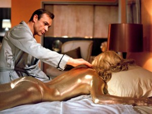 Goldfinger turns the tables on Bond by killing Jill Masterson