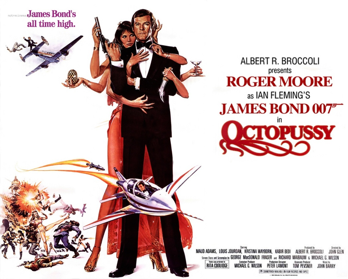 1983 Movie Posters: The James Bond Rewatch: OCTOPUSSY (1983)
