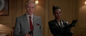 The villainous Zorin and May Day, by far the best aspects of the movie