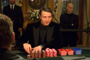 """Our little game isn't causing you to perspire, is it Mr. Bond?"""